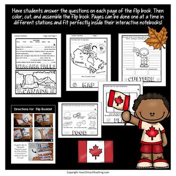 Canada Country Study: A Mini-Unit & Canada Flip Book