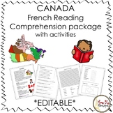 Canada French Reading Comprehension Package *EDITABLE*