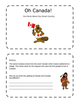 Canada Fun Facts Booklet
