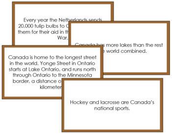 Canada Fun Facts (color borders)