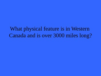 Canada Geography Jeopardy Review Game