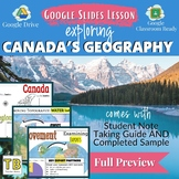 Canada Geography Overview Google Slides and Note Taking Guide