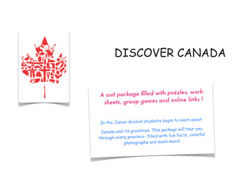 Canada Geography Unit