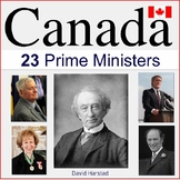 Canada Government and History | 23 Prime Minister Clip Art Posters (K-12)