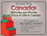 Canada - Histories and Stories - Grade 5 Social Studies