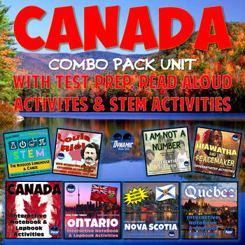 Canada Interactive Notebook Combo Pack with Test Prep Bundle