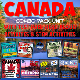 Canada Interactive Notebook Combo Pack UNIT w/Test Prep Bundle & STEM Activities
