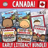 Canada Early Literacy and Social Studies Activities Bundle