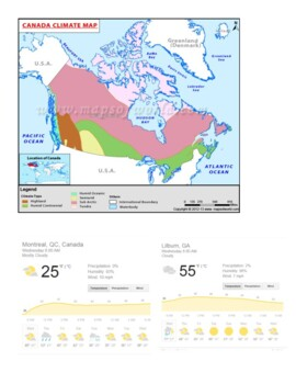 Canada Location, Climate, and Natural Resources DBQ