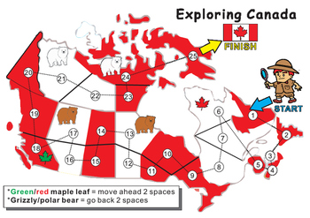 Map Of Canada Game.Canada Map Blank Game Board By Rick S Creations Tpt