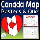 Canada Map Practice - Maps, Mnemonic Device, Practice Sheet & Quiz (Test)
