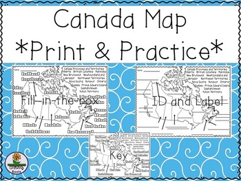 Fill In Map Of Canada.Canada Map Printable Worksheets Teachers Pay Teachers