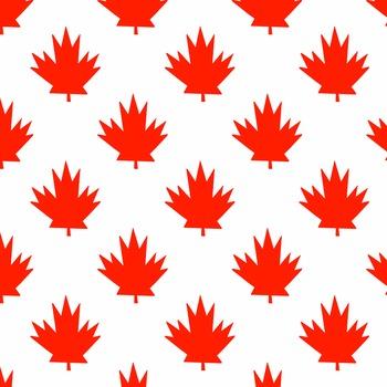 Canada Maple Leaf Digital Paper