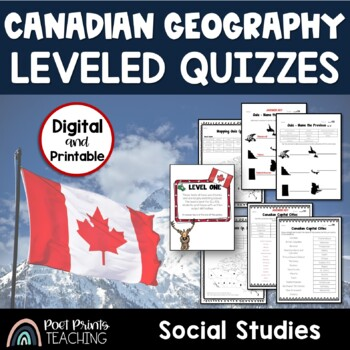 Levelled Canada Map Tests, Differentiated