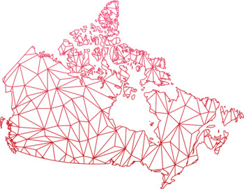 Canada Maps Clip Art : Map with Geometric Shapes