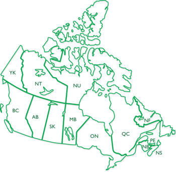 Canada Maps Clip Art : Map with Outline