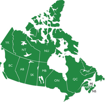 Canada Maps Clip Art : Maps with Land Areas