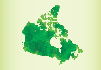 Canada Maps Clip Art : Maps with Watercolors