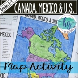 Canada, Mexico and the United States Map Activity (Print a