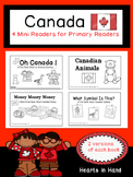 Canada Mini Readers For  Primary Readers (K-2)