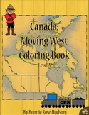 Canada: Moving West Coloring Book-Level A