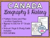Canada Unit Assessment (Editable)