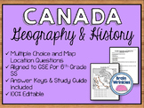 Geography and History of Canada Assessment (SS6H2, SS6G4-6)