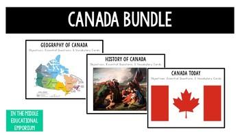 Canada Objective, EQs, & Vocabulary Bundle
