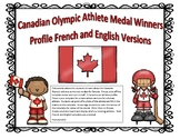 Canada Olympic Athlete Profile Bulletin Board French and English Les olympiques