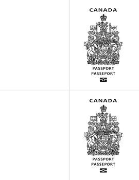 Canada Passport Template