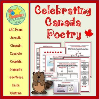 Poetry Writing - Canada Acrostic, Cinquain, Couplets, Diamante, Haiku and More