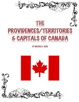 Canada Provinces & Territories and Capitals Study Guide and Test