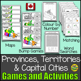 Canada - Provinces, Territories and Capital Cities Games and Activites