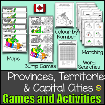 Canada Bundle: Provinces and Territories on states map game, middle east map game, south america map game,