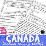 Canada Reading Activity Packets BUNDLE