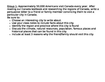 Canada Region Differentiated Tasks