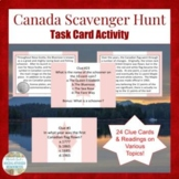 Canada Scavenger Hunt Task Card Activity for Human Geography
