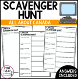 Canada Scavenger Hunt - Research Based