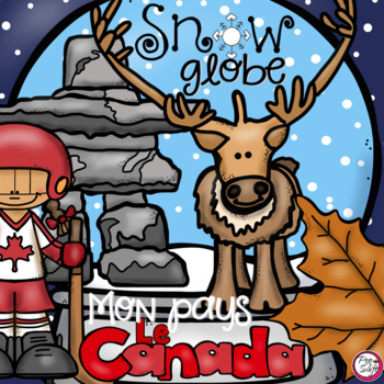 Canada Snow Globe 3-D Craft in French