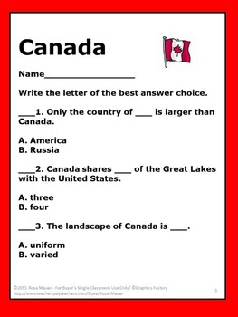 Canada Social Studies History and Information Task Cards