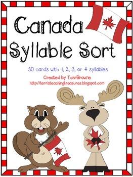 Canada Syllable Sort
