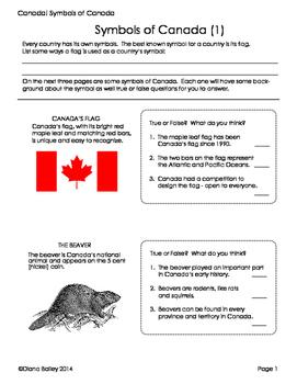 Canada! Canadian Symbols Activities