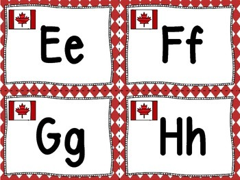 Canada Theme Word Wall Letters and 200 Fry Words