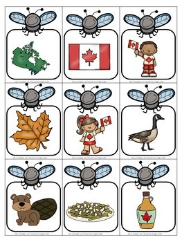 Canada Themed Game in French - La tapette à mouches