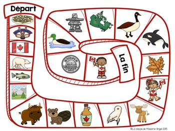 Canada Themed Literacy Activities in French
