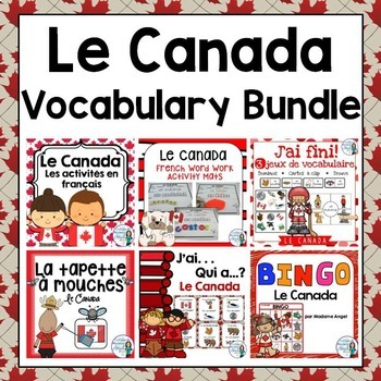 Canada Themed Vocabulary BUNDLE in French