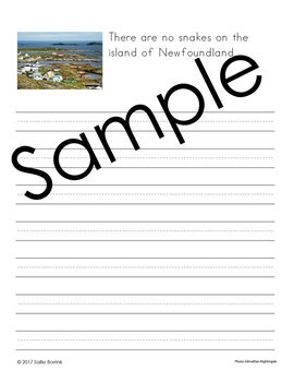 Canada Unit - Copywork - Print - Handwriting