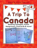 Canada Unit Study: A Trip To Canada- reading passages, poster assignment & more
