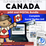 Canada Unit with Informational Text, Print & Digital Distance Learning Bundle