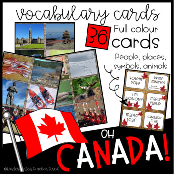 Canada Vocabulary Cards